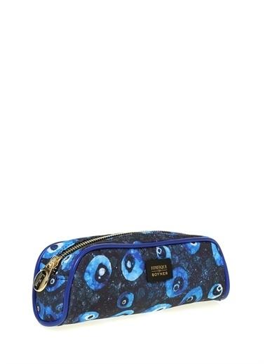 Fonfique Fonfique For Boyner Nazar Boncuğu 22 X 8,5 X 5,5 Cm Makyaj Çantası Mavi